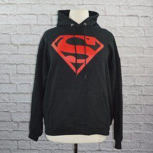 Vintage 90s Superman DC Comics Hoodie Sweatshirt